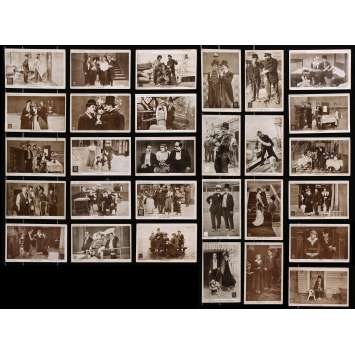 CHARLIE CHAPLIN RED LETTER Vintage Postcards lot x29 - 4x6 in. - 1917 - Charles Chaplin, Charlot