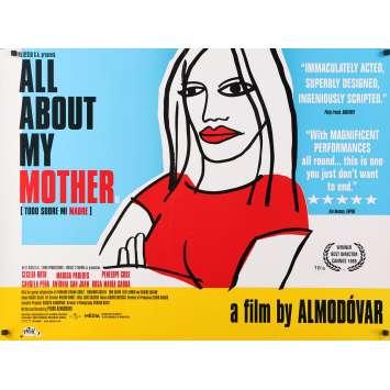TOUT SUR MA MERE Affiche de film - 76x102 - 1999 - Almodovar, Todo sobre mi madre