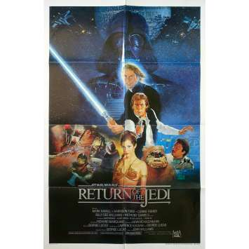 STAR WARS - LE RETOUR DU JEDI Affiche de film Int'l Version - 69x104 cm. - 1983 - Harrison Ford, Richard Marquand