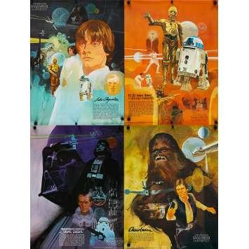 STAR WARS - LA GUERRE DES ETOILES Affiches Publicitaires - 46x61 cm. - 1977 - Harrison Ford, George Lucas