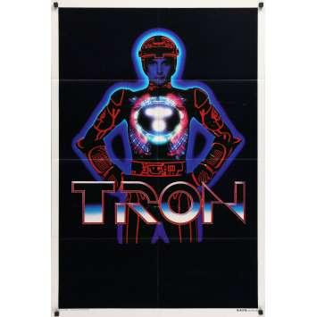 TRON Affiche de film - 70x102 cm. - 1982 - Jeff Bridges, Steven Lisberger