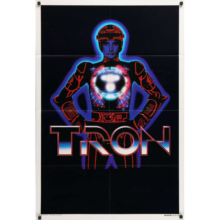 TRON Original Movie Poster - 29x40 in. - 1982 - Steven Lisberger, Jeff Bridges