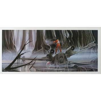 STAR WARS - L'EMPIRE CONTRE ATTAQUE Artwork N15 - 25x53 cm. - 1980 - Harrison Ford, George Lucas