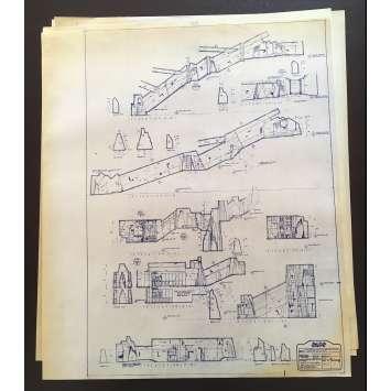 DUNE Original Blueprints Lot - Sietch Tabr - 1982 - David Lynch, Kyle McLachlan