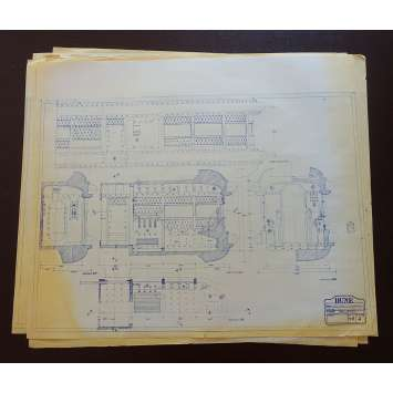 DUNE Original Blueprints Lot - Geidi Prime - 1982 - David Lynch, Kyle McLachlan