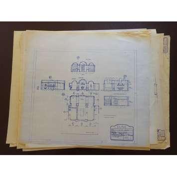 DUNE Original Blueprints Lot - Arrakeen Castle - 1982 - David Lynch, Kyle McLachlan