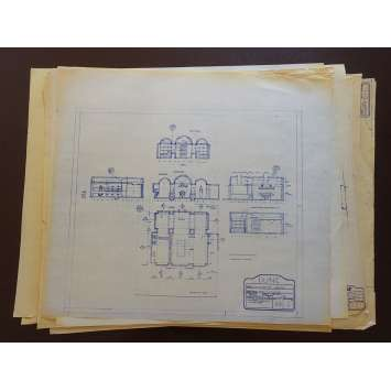 DUNE Lot de Blueprints - Arrakeen Castle - 1982 - Kyle McLachlan, David Lynch