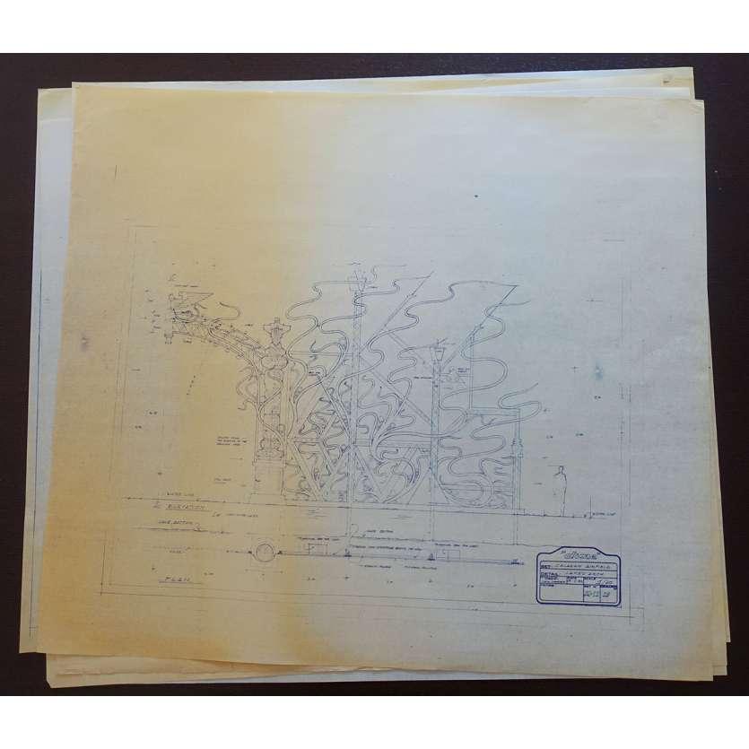 DUNE Lot de Blueprints - Caladan Extérieurs - 1982 - Kyle McLachlan, David Lynch