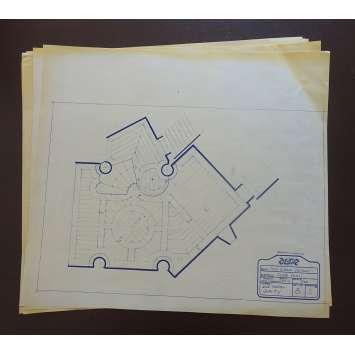 DUNE Original Blueprints Lot - Caladan Interiors - 1982 - David Lynch, Kyle McLachlan