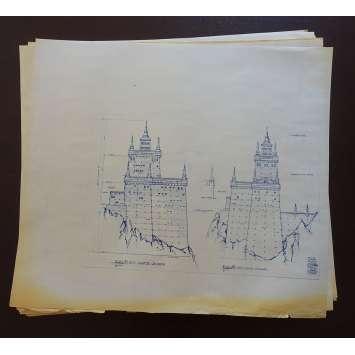DUNE Lot de Blueprints - Caladan Castle - 1982 - Kyle McLachlan, David Lynch