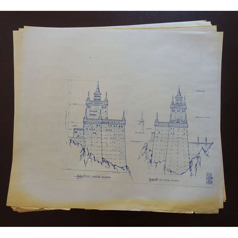 DUNE Original Blueprints Lot - Caladan Castle - 1982 - David Lynch, Kyle McLachlan