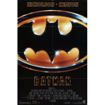 BATMAN Affiche de film - 69x102 cm. - 1989 - Jack Nicholson, Tim Burton