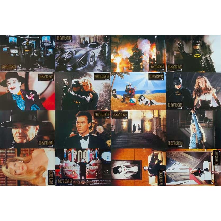 BATMAN Lobby Cards x16 - 9x11,5 in. - 1989 - Tim Burton, Jack Nicholson