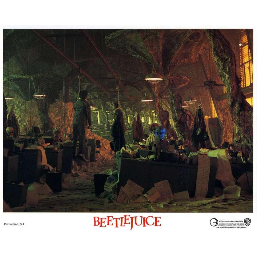 BEETLEJUICE Lobby Card N04 - 8x10 in. - 1988 - Tim Burton, Michael Keaton