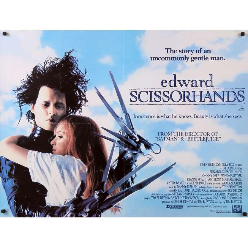 EDWARD SCISSORHANDS Movie Poster - 30x40 in. - 1992 - Tim Burton, Johnny Depp
