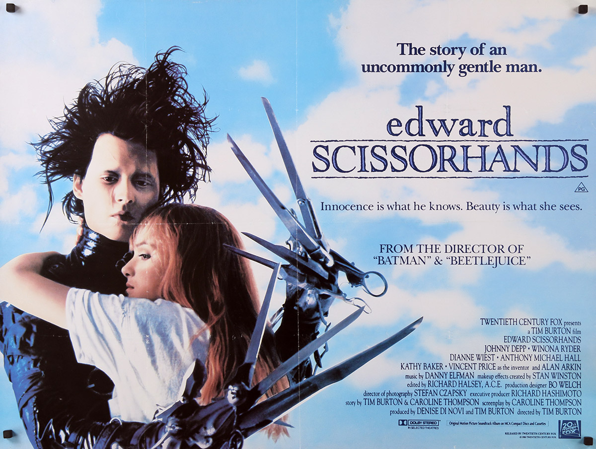 EDWARD SCISSORHANDS Movie Poster 30x40 in.