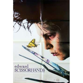 EDWARD SCISSORHANDS Movie Poster Style B - 27x40 in. - 1992 - Tim Burton, Johnny Depp