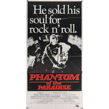 PHANTOM OF THE PARADISE Affiche de film - 104x206 cm. - 1974 - Paul Williams, Brian de Palma
