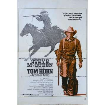 TOM HORN Original Movie Poster - 15x21 in. - 1980 - William Wiard, Steve McQueen