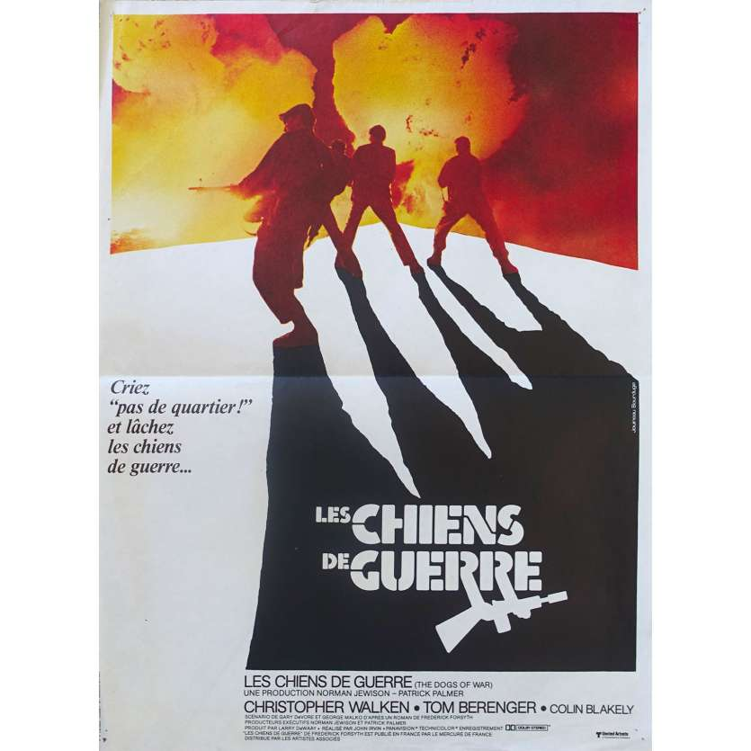 LES CHIENS DE GUERRE Affiche de film - 40x60 cm - 1980 - Christopher Walken, Norman Jewinson Movie Poster