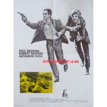 BUTCH CASSIDY ET LE KID Affiche de film - 60x80 cm. - 1969 - Paul Newman, Robert Redford, George Roy Hill