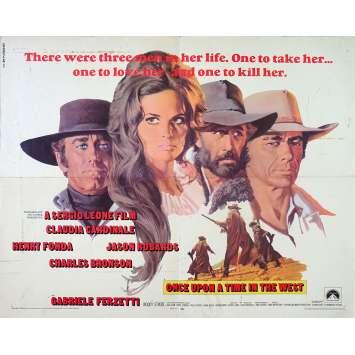 IL ETAIT UNE FOIS DANS L'OUEST Affiche de film - 55x71 cm. - 1968 - Henry Fonda, Sergio Leone