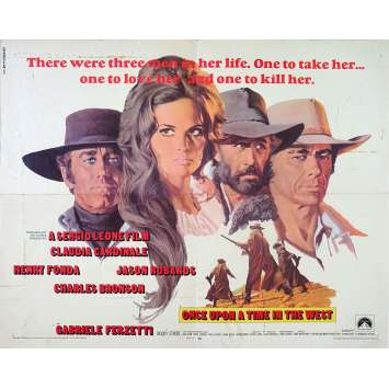 ONCE UPON A TIME IN THE WEST Original Movie Poster - 21x28 in. - 1968 - Sergio Leone, Henry Fonda