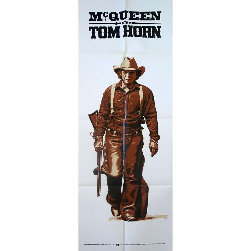 TOM HORN Original Movie Poster - 23x63 in. - 1980 - William Wiard, Steve McQueen