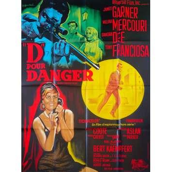 D POUR DANGER Affiche de film - 120x160 cm. - 1966 - James Garner, Ronald Neame