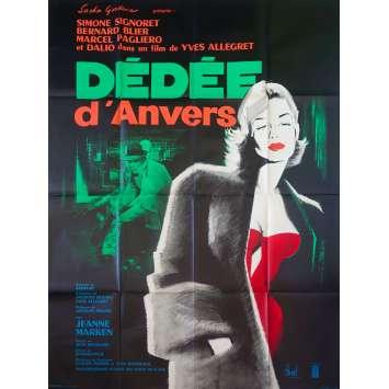 DEDEE D'ANVERS Original Movie Poster - 47x63 in. - R1960 - Yves Allégret, Simone Signoret