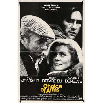 LE CHOIX DES ARMES Affiche de film - 69x102 cm. - 1981 - Yves Montand, Gérard Depardieu, Alain Corneau