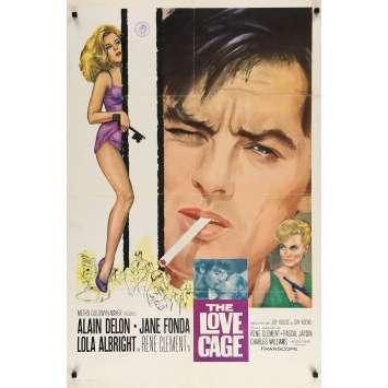 JOY HOUSE Original Movie Poster - 27x40 in. - 1964 - René Clément, Alain Delon