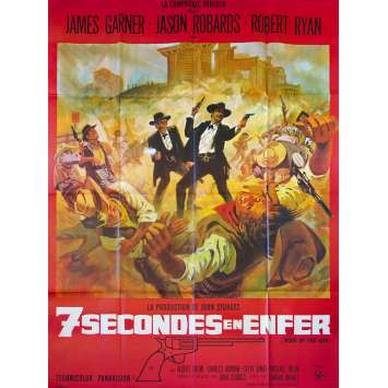 7 SECONDES EN ENFER Affiche de film - 120x160 cm. - 1967 - James Garner, John Sturges