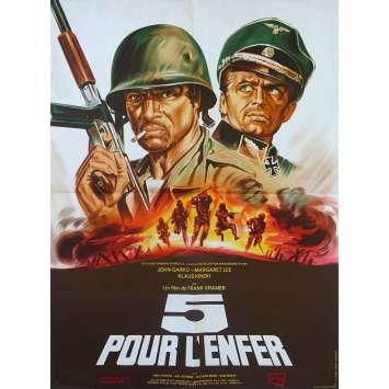 CINQ POUR L'ENFER Affiche de film - 60x80 cm. - 1969 - Klaus Kinski, Gianfranco Parolini