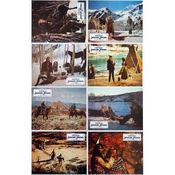 JEREMIAH JOHNSON Original Lobby Cards x8 - 9x12 in. - 1972 - Sidney Pollack, Robert Redford
