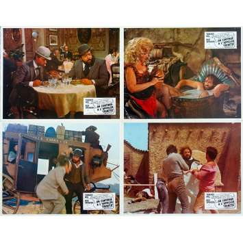 TRINITY IS STILL MY NAME Original Lobby Cards x4 - 9x12 in. - 1971 - Enzo Barboni, Terence Hill, Bud Spencer