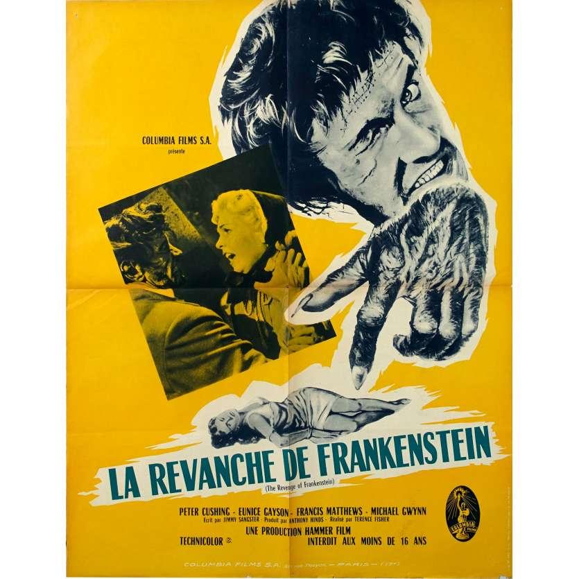 LA REVANCHE DE FRANKENSTEIN Affiche de film - 60x80 cm. - 1958 - Peter Cushing, Terence Fisher