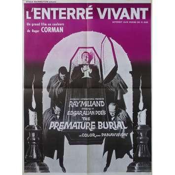 L'ENTERRE VIVANT Affiche de film - 60x80 cm. - 1962 - Ray Milland, Roger Corman