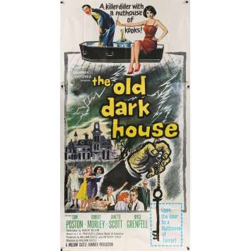 THE OLD DARK HOUSE Affiche de film - 104x206 cm. - 1963 - Anthony Hinds, William Castle