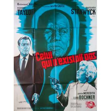 CELUI QUI N'EXISTAIT PAS Affiche de film - 120x160 cm. - 1964 - Robert Taylor, William Castle