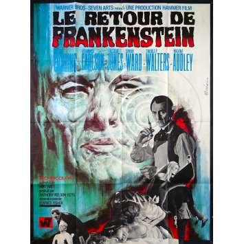 LE RETOUR DE FRANKENSTEIN Affiche de film - 120x160 cm. - 1969 - Peter Cushing, Terence Fisher