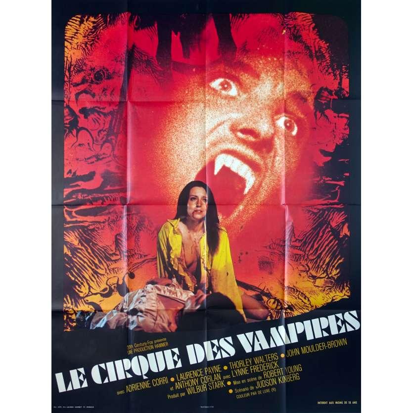 LE CIRQUE DES VAMPIRES Affiche de film - 120x160 cm. - 1972 - Adrienne Cori, Robert Young