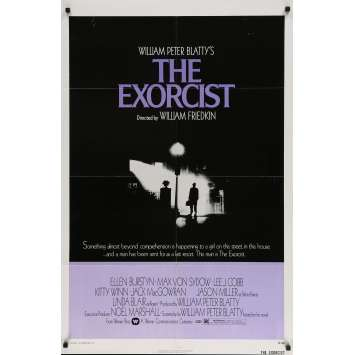 THE EXORCIST Original Movie Poster - 27x41 in. - 1974 - William Friedkin, Max Von Sidow