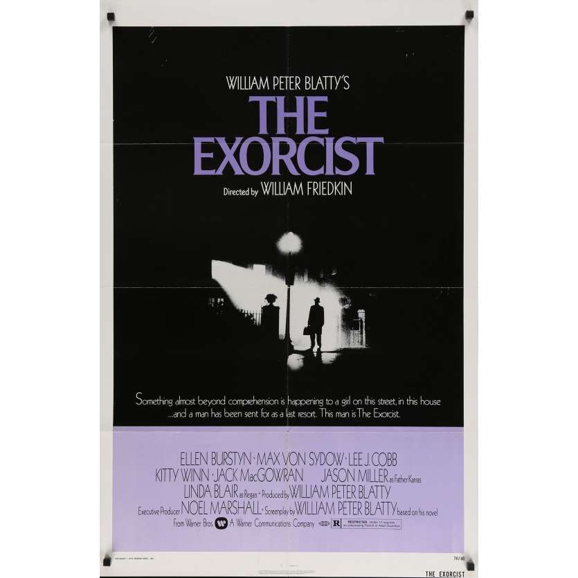L'EXORCISTE Affiche de film - 69x104 cm. - 1974 - Max Von Sidow, William Friedkin
