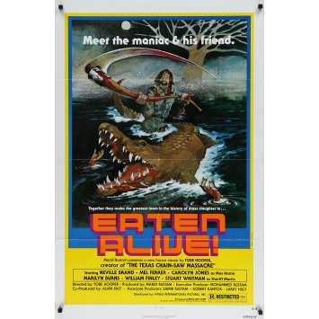EATEN ALIVE Original Movie Poster - 27x41 in. - 1976 - Tobe Hooper, Robert Kerman