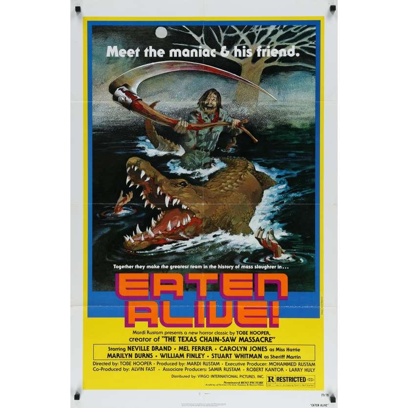 LE CROCODILE DE LA MORT Affiche de film - 69x104 cm. - 1976 - Robert Kerman, Tobe Hooper