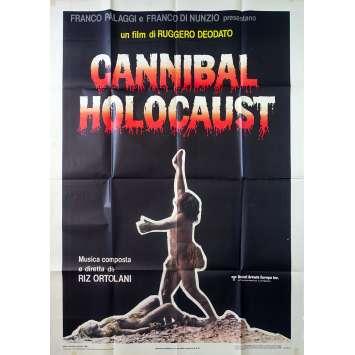 CANNIBAL HOLOCAUST Original Movie Poster - 39x55 in. - 1980 - Ruggero Deodato, Robert Kerman