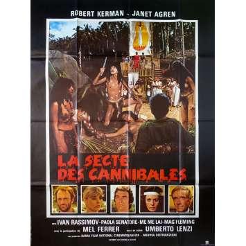 LA SECTE DES CANNIBALES Affiche de film - 120x160 cm. - 1980 - Robert Kerman, Umberto Lenzi