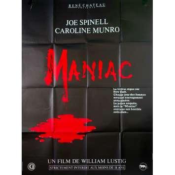 MANIAC Affiche de film - 120x160 cm. - 1980 - Joe Spinell, William Lustig