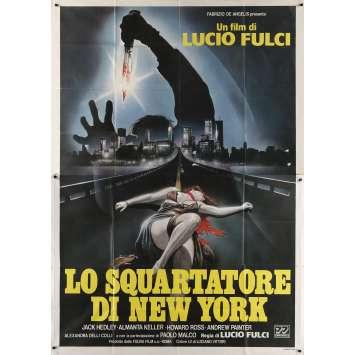 L'EVENTREUR DE NEW YORK Affiche de film - 100x140 cm. - 1982 - Jack Hedley, Lucio Fulci